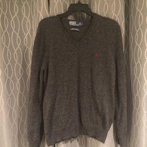 Ralph Lauren Men's Wool sweater Gray Large NWOT